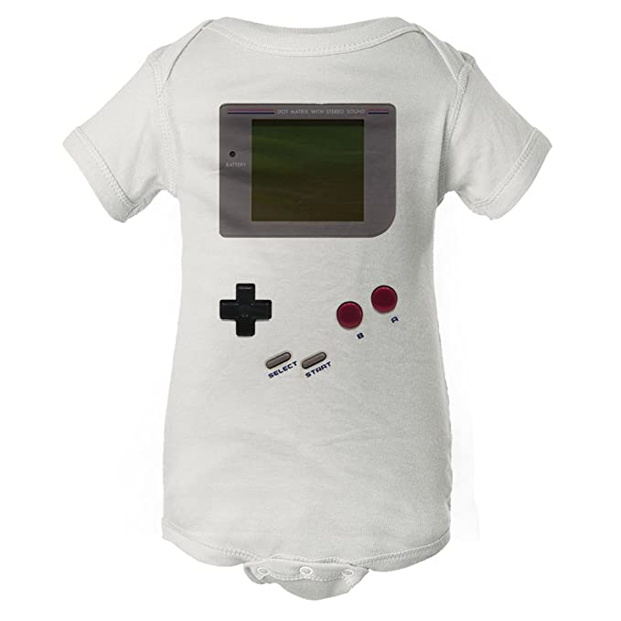 InkThread Classic Gameboy - Vintage Video Game - Funny Baby Onesie Pajamas w/Sleeves