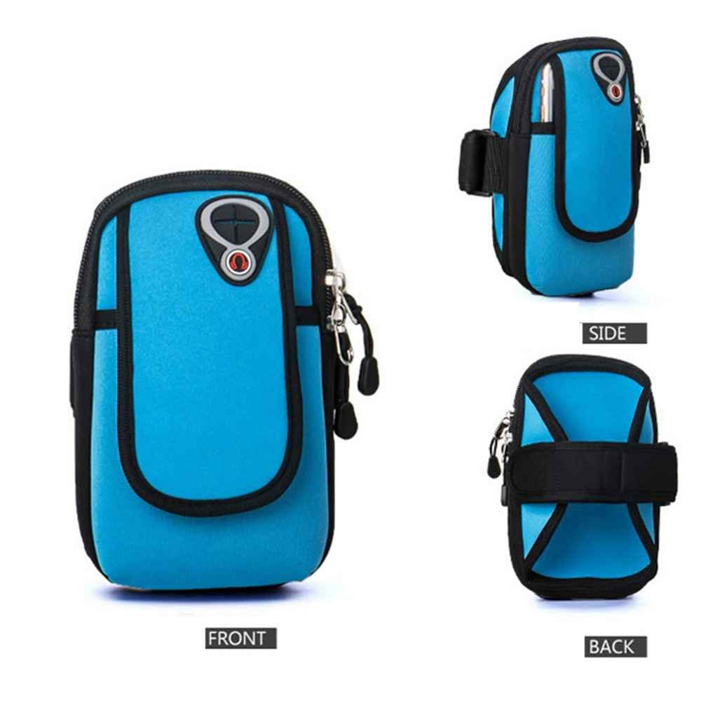 YIPINU Hommes Femmes Courir Sport Armband T/él/éphone Portable Bras Sac Housse Sac Ceinture pour iPhone 4 Xiaomi 6s 6 Plus Huawei M7