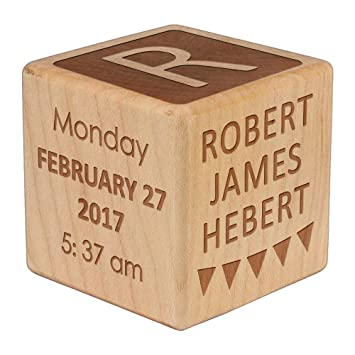 Amazon.com  Custom Engraved Baby Block for New Baby Personalized Baby Gifts Baby Shower Gifts Baby Gifts for Boys/Girls  Baby  sc 1 st  Amazon.com & Amazon.com : Custom Engraved Baby Block for New Baby Personalized ...