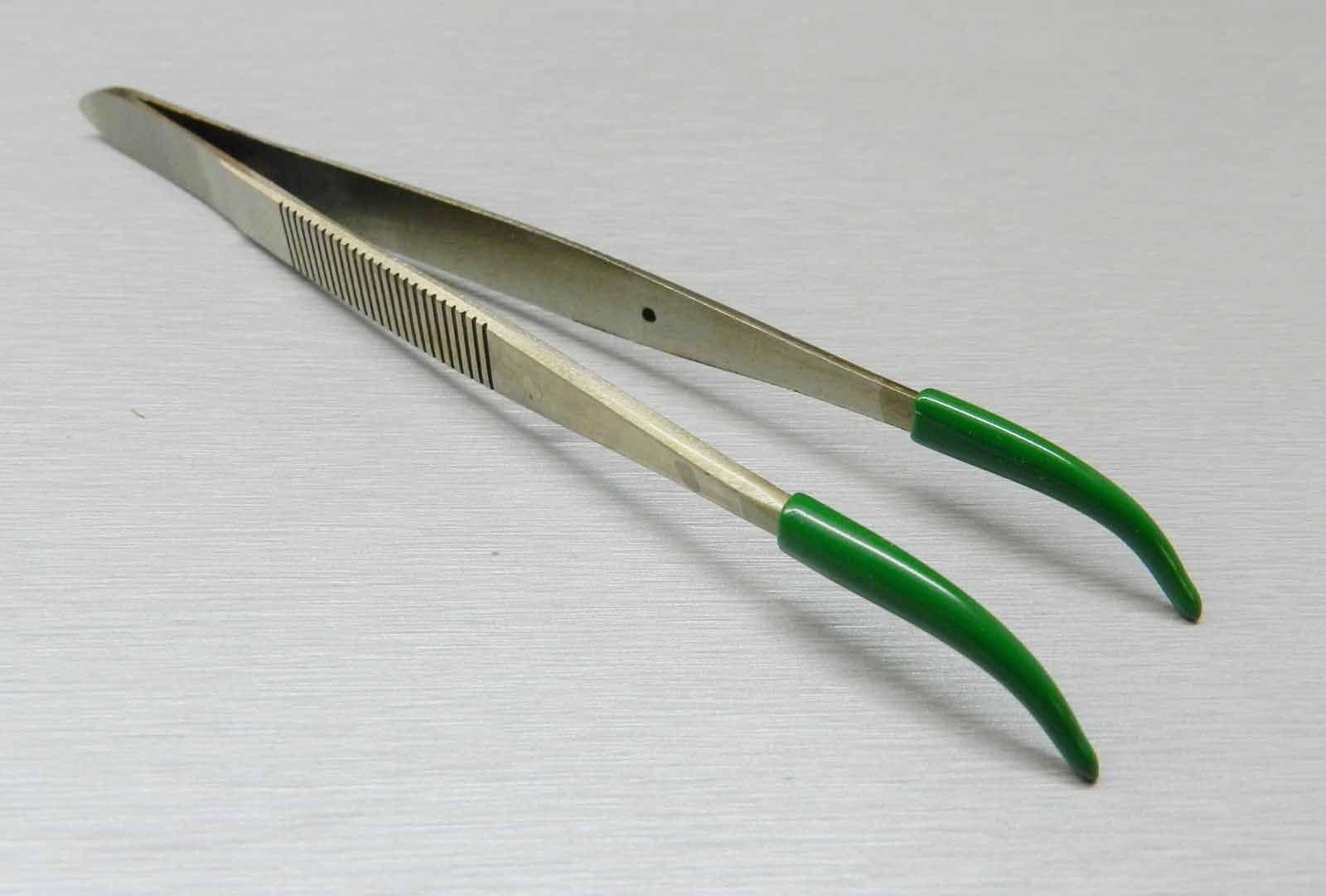 ACE Tweezers Curved Tip Rubber Tips PVC Coated Curved Tweezer Jewelry Hobby Craft by ACE (Image #7)
