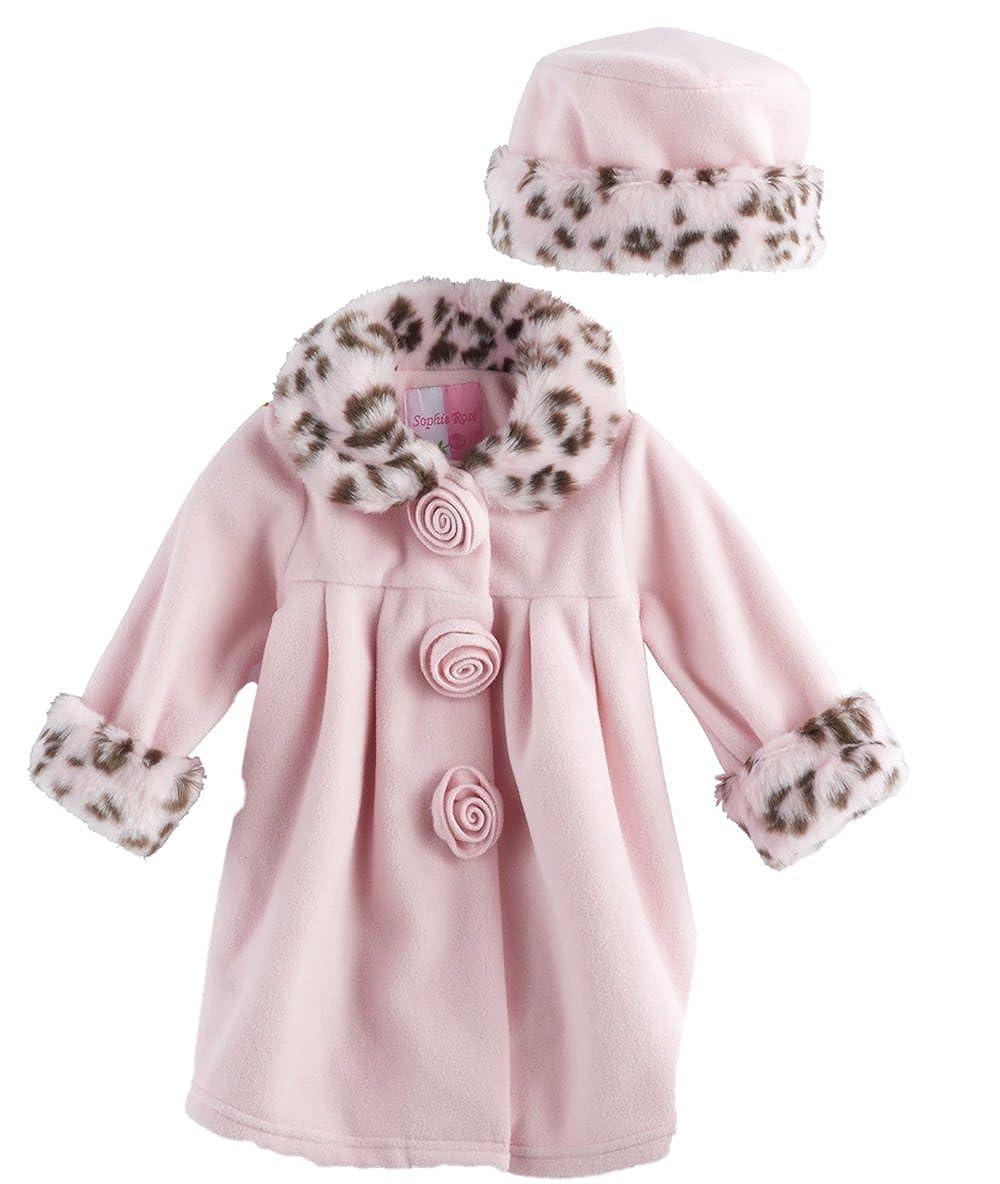 Amazon.com  Sophie Rose Baby Girls Microfleece Coat   Hat Set 3ea660981a6