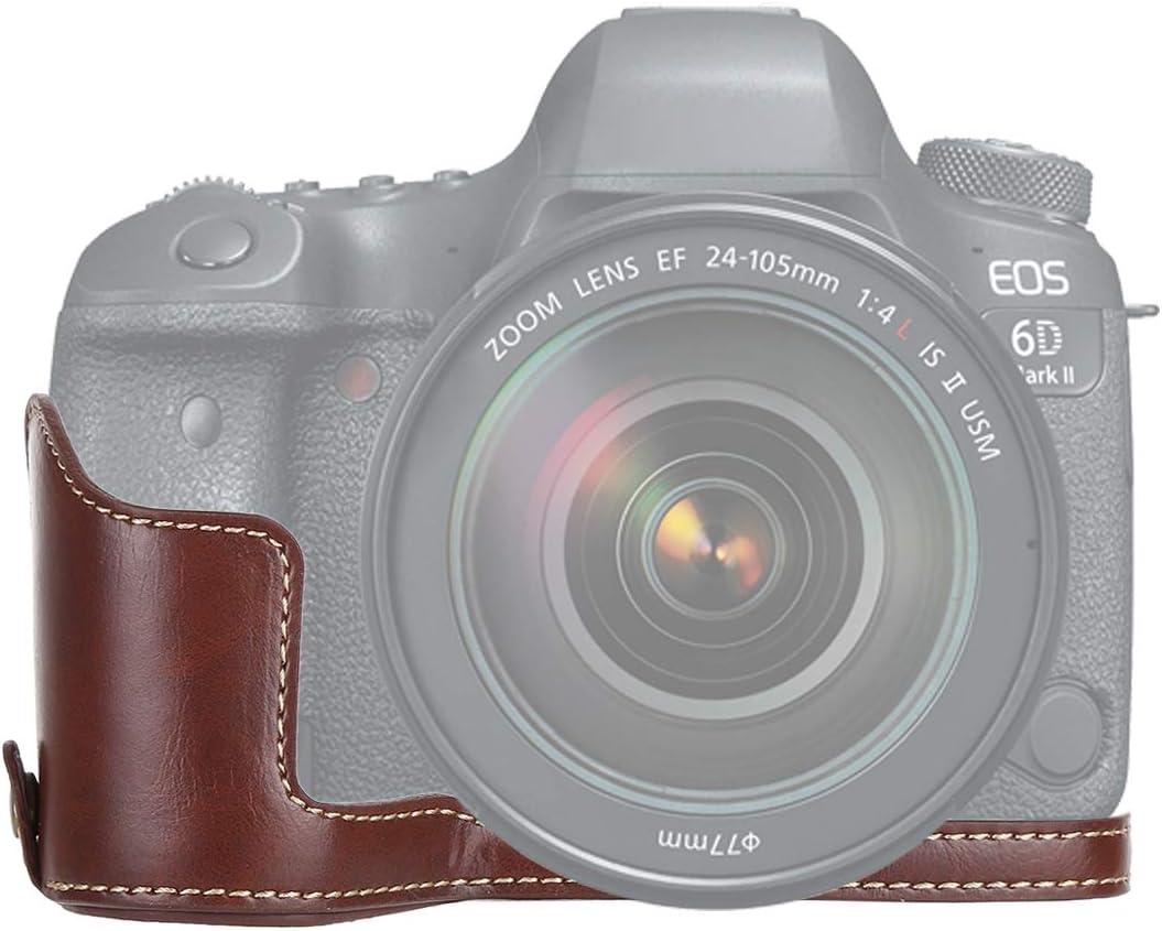 Color : Black YANTAIANJANE Camera Accessories 1//4 inch Thread PU Leather Camera Half Case Base for Canon EOS 6D 6D Mark II Black