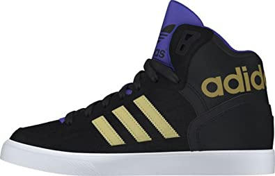 online store 9fec0 f8f53 adidas Womens Extaball High-Top Trainers Black Size 3.5