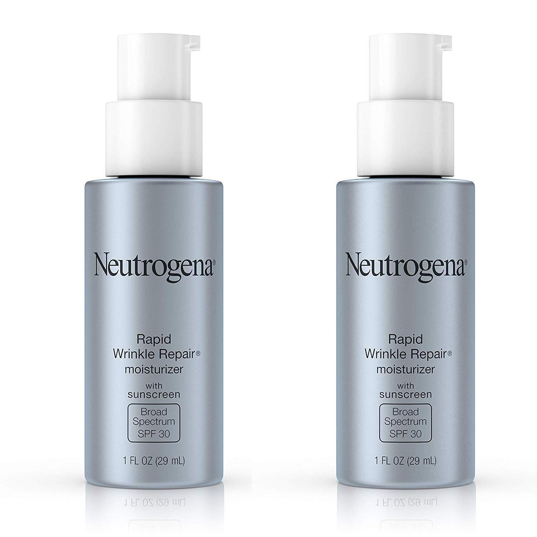 Rapid Wrinkle Repair Daily Hyaluronic Acid Retinol Face Moisturizer, Anti Wrinkle Face Cream & Neck Cream with SPF 30 Sunscreen, 1 fl. Oz (2 Pack)
