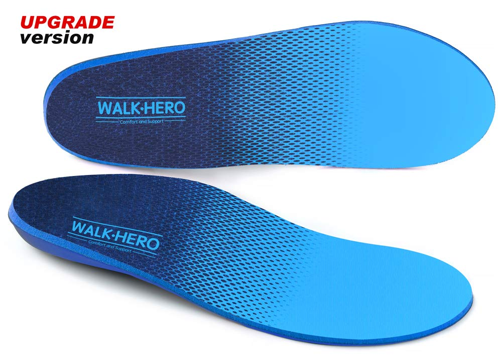 Plantar Fasciitis Feet Insoles Arch Supports Orthotics Shoe Inserts for Relieve Flat Feet, High Arches, Back Pain, Foot Arch Pain - Full Length,Mens 15-15 1/2
