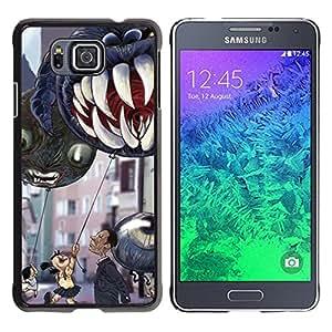 For Samsung GALAXY ALPHA G850 Case , Jaws Teeth Children'S Halloween - Diseño Patrón Teléfono Caso Cubierta Case Bumper Duro Protección Case Cover Funda