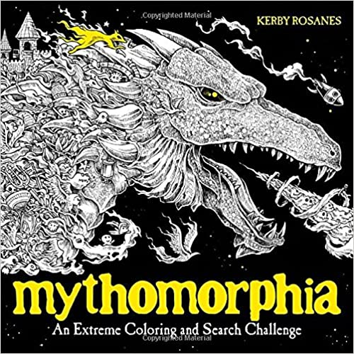 amazoncom mythomorphia an extreme coloring and search challenge 9780735211094 kerby rosanes books
