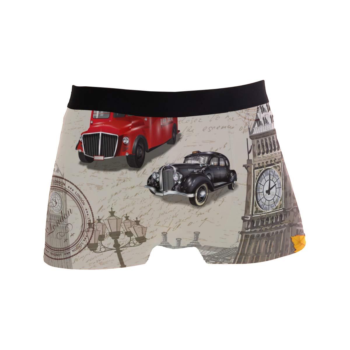 MOFEIYUE Mens Boxer Briefs Vintage London Maple Butterfly Soft Short Underpants Underwear for Men Boys