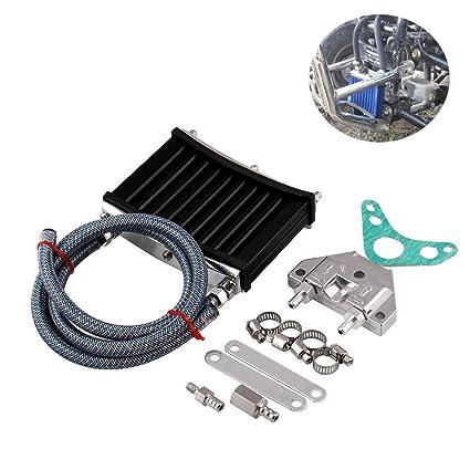 Amyove Motor de Aluminio de la Motocicleta Motor del radiador del Enfriador de Aceite Universal para