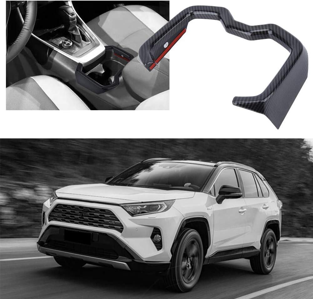 Duokon Telaio di rivestimento della copertura del supporto della tazza dellacqua anteriore ABS per auto per RAV4 2019