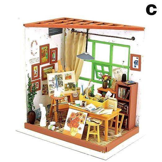 Domeilleur Kit de Muebles de Miniatura de Madera de la casa ...