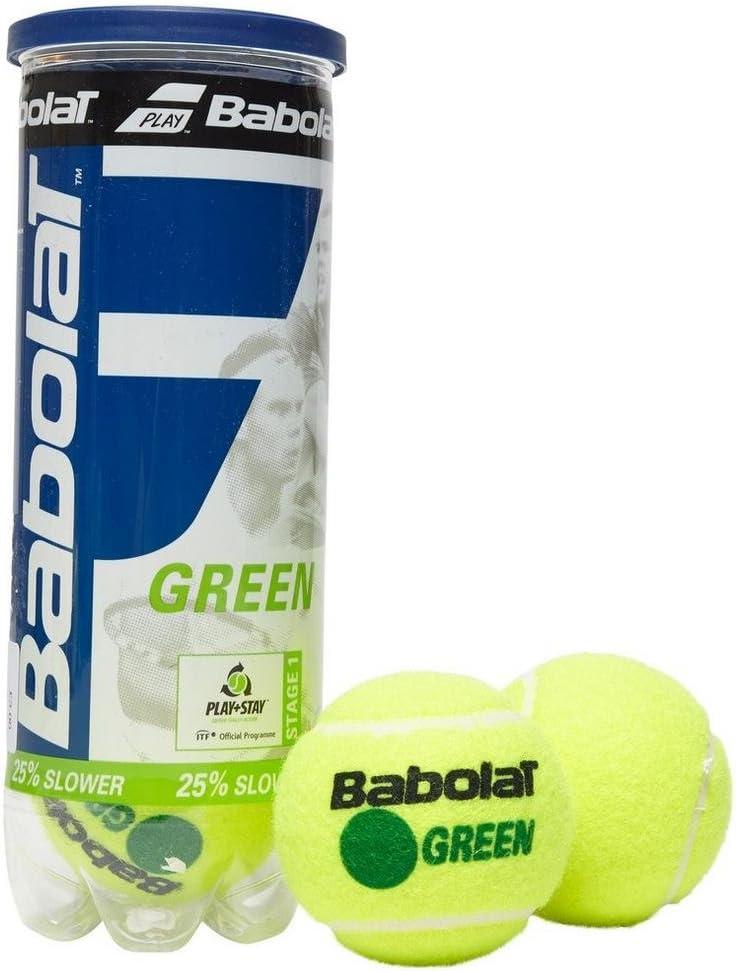 Bolas de tenis Babolat Green x3, Verde, Talla Única: Amazon.es ...
