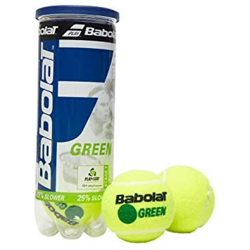 Amazon.com : Babolat Green x3 Tennis Balls, Green, One Size ...