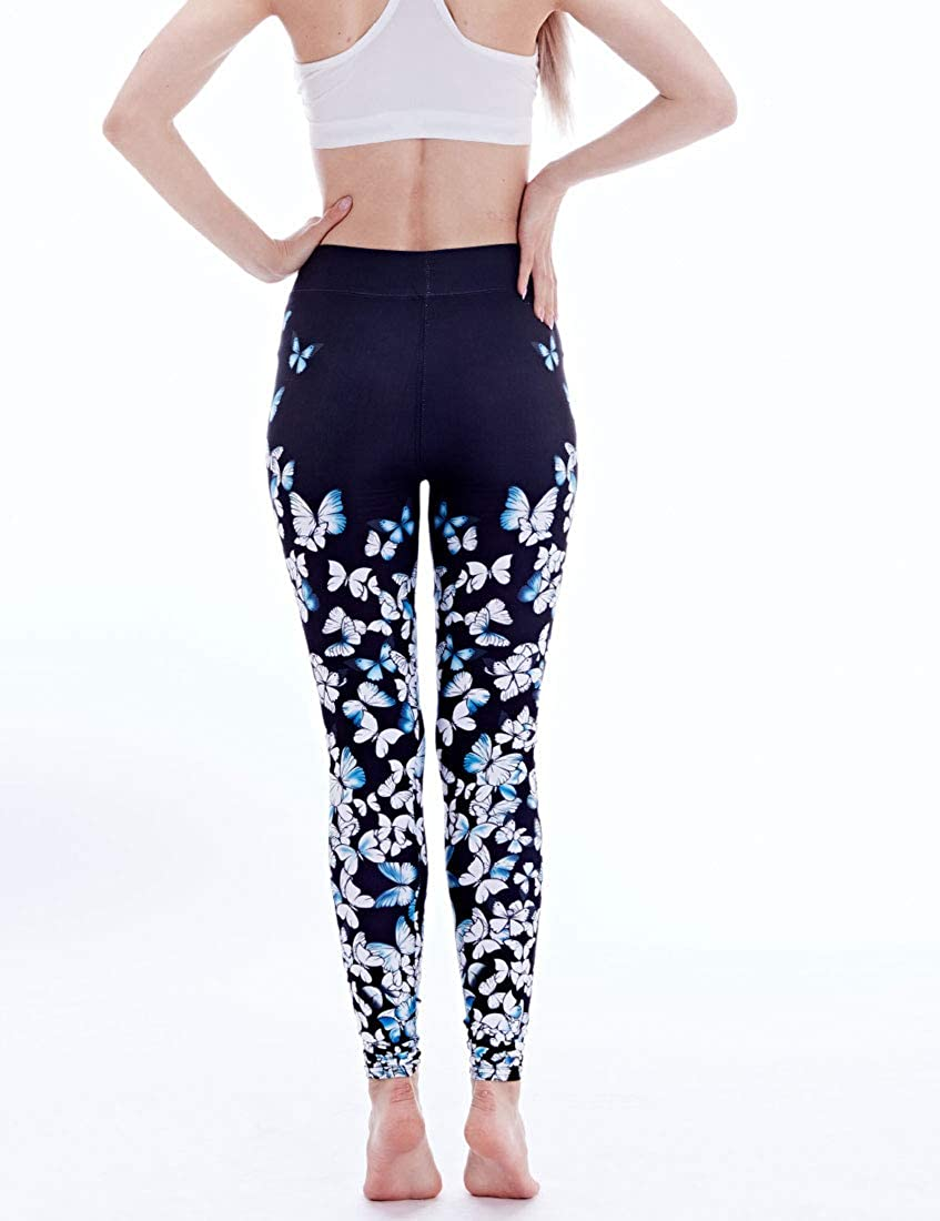 YaYu Women Design Graphic Ultra Soft Yoga High Waist Active Outdoor Fashion Stretchy Legging