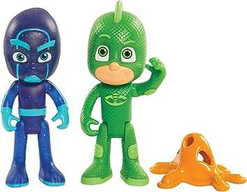 PJ Masks - Juego de 2 figuras iluminadas de Gecko y de Ninja Nocturno , color/modelo surtido