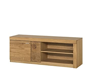 Lowboard Massiv Eiche ~ Tv schrank tv lowboard velle eiche massiv natur furnier amazon
