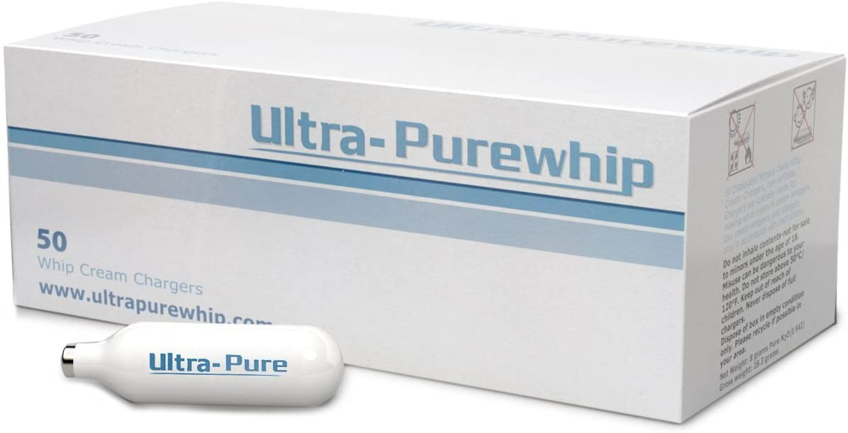 Creamright Ultra-Purewhip 100-Pack N2O Whipped Cream Chargers