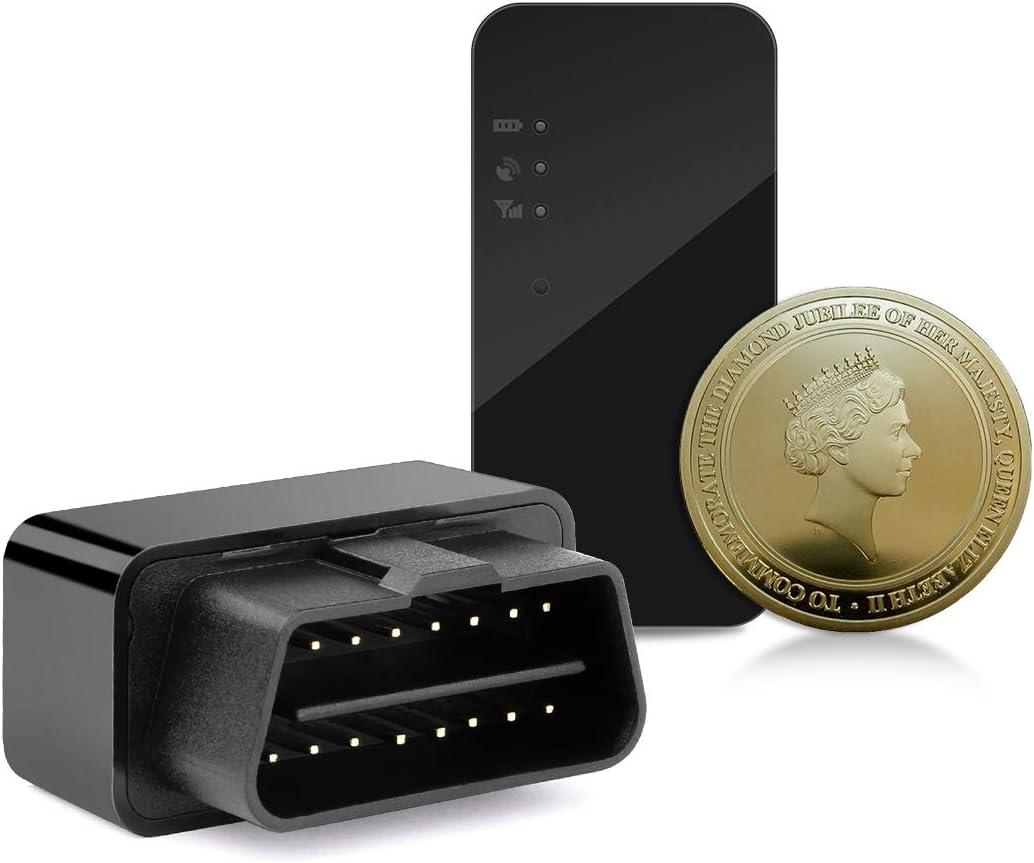 OBD Car Tracker-Mini GPS Tracker Dispositivo para la actividad de la flota de camiones de automóviles Rastreo en tiempo real Rastreador GPS Localizador Monitoreo de vehículos Alertas de exceso