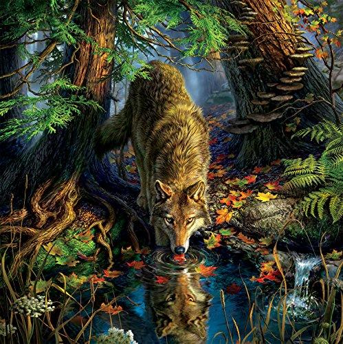 - Ceaco Mark Fredrickson Water's Edge Wolf Jigsaw Puzzle (550 Piece)