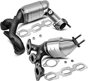 Catalytic Converters Compatible with 01-07 Ford Escape | 01-06 Mazda Tribute | 05-07 Mercury Mariner 3.0L V6 Bank 1 and Bank 2 (EPA Compliant)