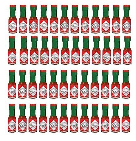 (Tabasco Original Pepper Sauce Mini Bottles 1/8 Ounce Pack of 48 Little Real Glassbottles)