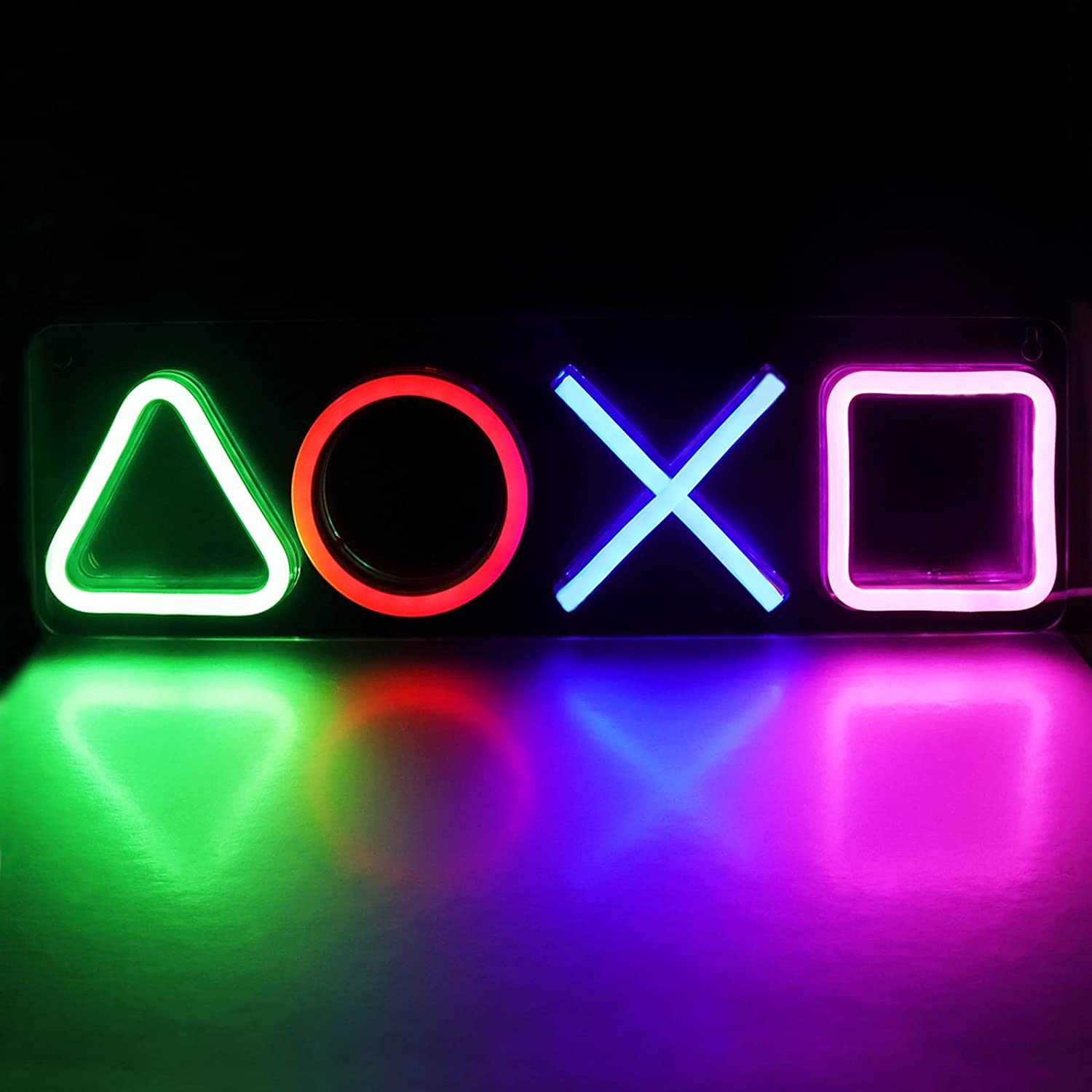 Gaming Neon Lights Signs for Playstation Icon Bedroom Wall Decor, LED Neon Light for Game Room, Living Room, Men Cave, Bar Club Decoration Setup Accessories Ornament.