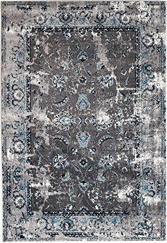 NEW Venice Grey Washed Out Distressed Vintage Retro style Area Rug carpet 8'x10' Area Rug (actual size is 7'4