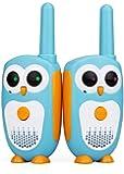 Retevis RT30 Kids Walkie Talkies Owl Toys Easy Walkie Talkies for Kids Boys and Girls Gifts(Blue,1 Pair)