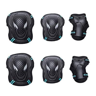LIOOBO Kids Protective Gear Set Child Knee Pads Elbow Pads with Wrist Guards for Cycling Roller Skating Biking - Size S : Sports & Outdoors