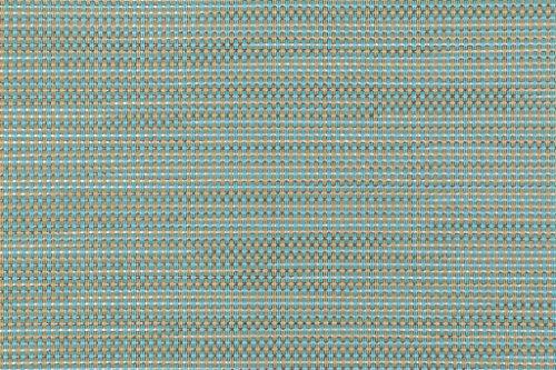 Phifertex Plus Woven Vinyl Mesh Sling Chair Outdoor Fabric in Straw/Mat Blue