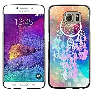 LECELL--Funda protectora / Cubierta / Piel For Samsung Galaxy S6 SM-G920 -- Catcher Art Hipster Indian Colors --