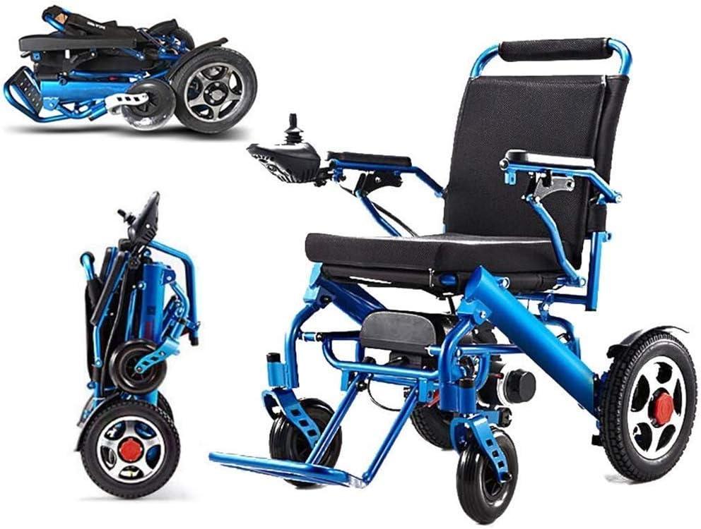 SED Trolley Ligero Auxiliar Silla de Ruedas Eléctrica Plegable Anciano Discapacitado Bicicleta Anciano Inteligente Pequeña Silla de Ruedas Automática Scooter Portátil, Carga 100 Kg Asistencia para Ca: Amazon.es: Bricolaje y herramientas