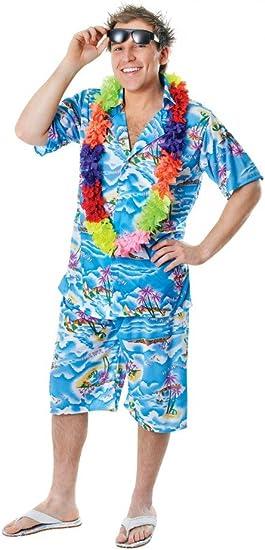 shoperama Hawaii de Camisa con y sin pantalón Disfraz para Hombre Divertidos Urlauber Tourist Ballermann Party
