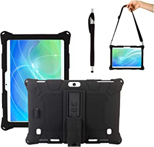 Transwon Silicone Case Compatible with VANKYO MatrixPad S30, Dragon Touch Notepad K10, Dragon Touch Max10, Dragon Touch K10, ZONKO 10.1, Winsing 10, Lectrus 10.1, DUODUOGO K6, Victbing 10 - Black