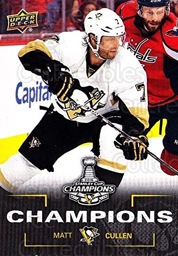 (CI) Matt Cullen Hockey Card 2016 Pittsburgh Penguins Stanley Cup Champions 3 Matt Cullen