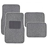 BDK MT-302-GR Gray Heavy Woven Berber Style Carpet Floor Mat for Cars- 4