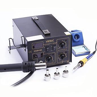 Estación soldadura soldador 75 W WEP 852d + Se Compresor 500 grados.PCB 852d +
