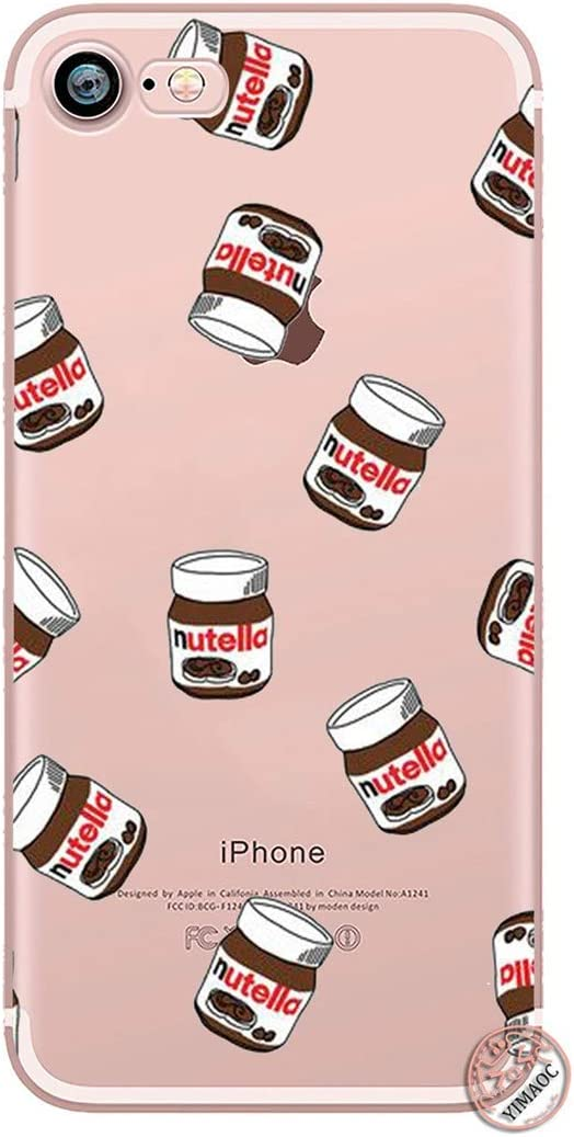 Chocolate Food Tumblr Nutella Soft Silicone Phone Shell Case for iPhone XR X XS 11 Pro Max 5 5S SE 6 6S 7 8 Plus 10 Cover,for iPhone XR,8