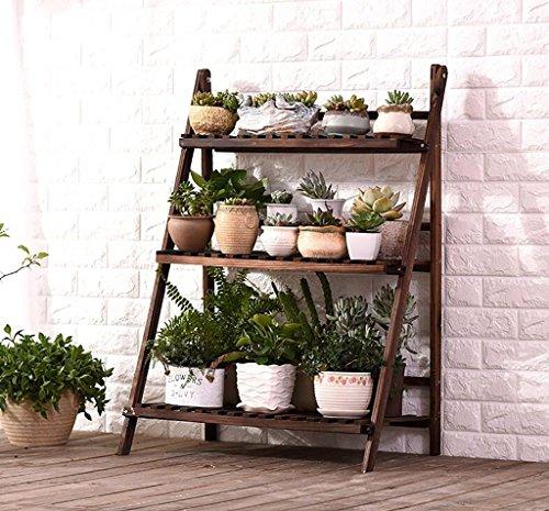 - Pergolas/Flower Racks Wooden Flower Racks/Indoor and Outdoor Plant Racks/Multi-Layer Flower Pots / 3F Ladder Stairway/Floor-Type Flower Display Stand Flower Display Stands