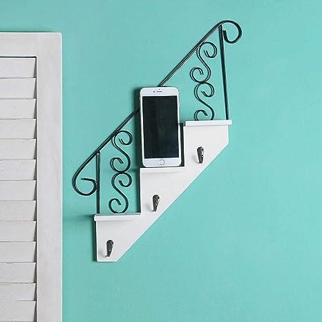 CWLLWC Colgante suspensión de Ropa, Plancha de Pared de Muebles Escalera Pared estantería decoración de la Pared de Escala, 2-Pack, Color Puede ser seleccionado: Amazon.es: Hogar