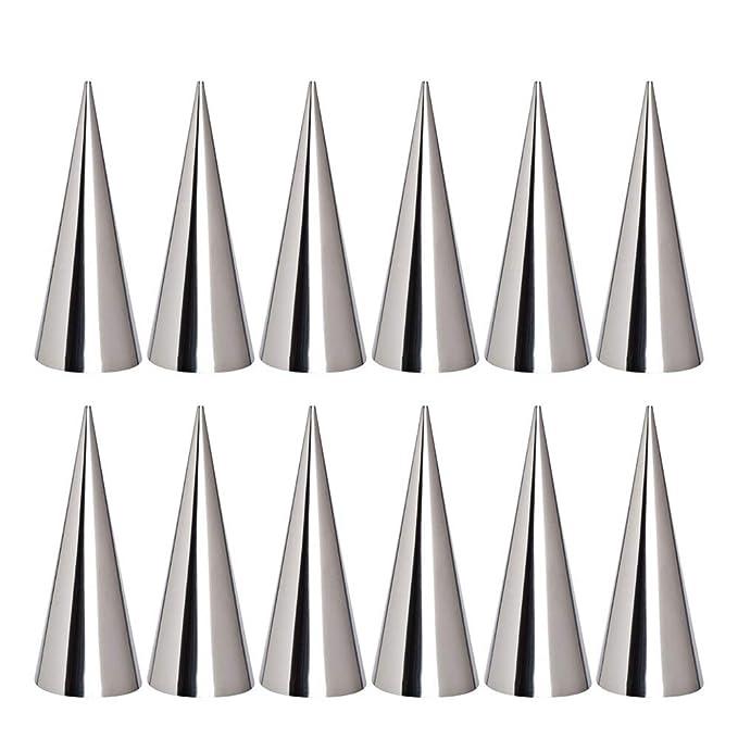 12 moldes de acero inoxidable para repostería de tamaño grande