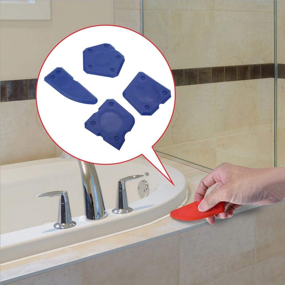 Azul NITRIP 4PCS Caulk Tools Kit Silicon Glass Cement Raspador para sellado Sellado de acabado de lechada