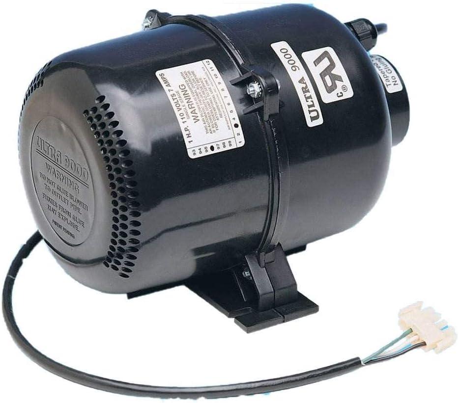 Air Supply 3920131 2 HP 120 Volt 9 Amp Ultra 9000 Portable Pool Spa Air Blower