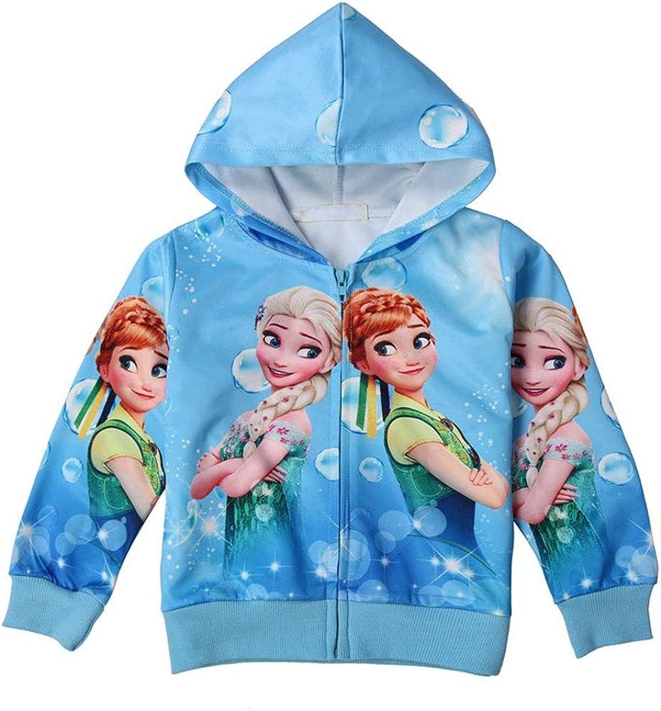 WNQY Toddler Zip Hoodie Little Princess Girls Sweatshirt Children Coat Jacket Outwear