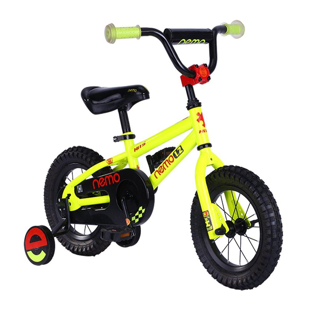 HITS(ヒッツ) Nemo 子供用 自転車 児童用 バイク 12インチ 小さなお子様も運転しやすいリバースブレーキモデル 男の子にも女の子にもぴったり 2歳 3歳 4歳 B06XPV8B2Tイエロー
