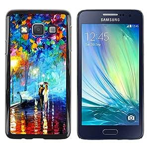Paccase / SLIM PC / Aliminium Casa Carcasa Funda Case Cover para - Oil Painting Couple Love Umbrella Lantern - Samsung Galaxy A3 SM-A300