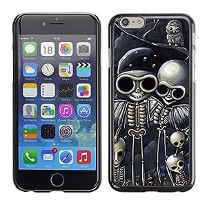 All Phone Most Case / Hard PC Metal piece Shell Slim Cover Protective Case Carcasa Funda Caso de protección para Apple Iphone 6 Plus 5.5 Skull Biker Drawing Black Skeleton