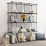 Tespo Wire Storage Cubes Modular Shelving Unit DIY Metal Grid Closet Organizer System, Bookcase, Cabinet (12 Cubes) Review