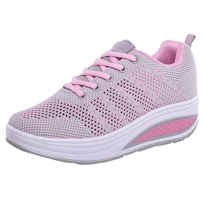 beautyjourney Calzado Deportivo de Malla para Mujer Zapatos de elevación con cojín de Aire Zapatos Casuales de Fondo Suave Zapatillas Deportivas: Amazon.es: ...