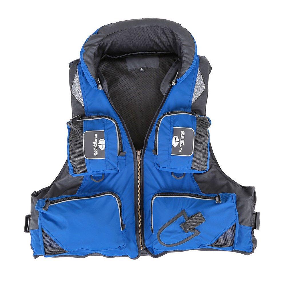 大人調節可能なBuoyancy Aid水泳ボートSailing釣りカヤックライフジャケットベストPreservers B0714KJWBT X-Large|ブルー ブルー X-Large